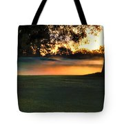 Frost On The West Course Tote Bag