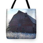Frosty Barn Tote Bag