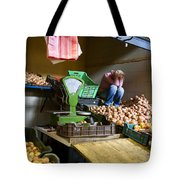 Fruit Stand Woman Tote Bag
