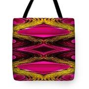 Fuchsia Sensation Zigzags Tote Bag