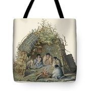 Fuegans In Their Hut, 18th Century Tote Bag