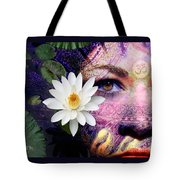 Full Moon Lakshmi Tote Bag by Christopher Beikmann