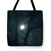Fullmoon In Between The Trees  Tote Bag