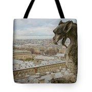 Gargoyle Overlooking Paris Tote Bag