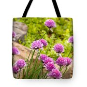 Garlic Chives Flowers Tote Bag