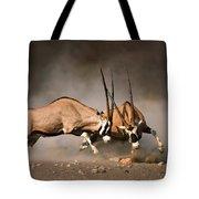 Gemsbok Fight Tote Bag by Johan Swanepoel