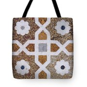 Geometric Designs On The Baby Taj Agra Tote Bag