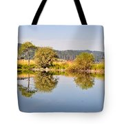 George Town Lake Reflections Tote Bag