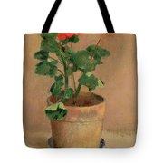 Geraniums In A Pot Tote Bag