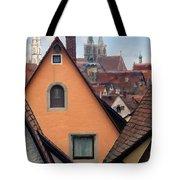 German Rooftops Impasto Tote Bag