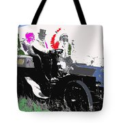 Geronimo At The Wheel 1904 Locomobile Model C Touring Car On The 101 Ranch In Oklahoma 1905 Tote Bag