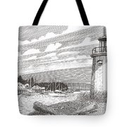 Lighthouse Gig Harbor Entrance Tote Bag