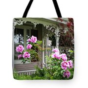 Gingerbread And Tree Peonies Tote Bag