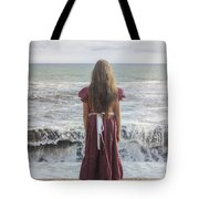 Girl On Beach Tote Bag