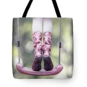 Girl Swinging Tote Bag