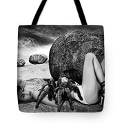 Girl With Spider Tote Bag