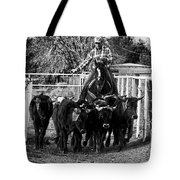 Git Along Dogies Bw Tote Bag