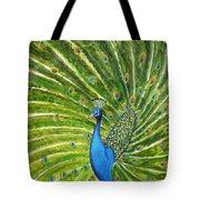 Glorious Peacock Tote Bag