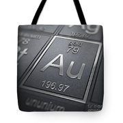 Gold Chemical Element Tote Bag