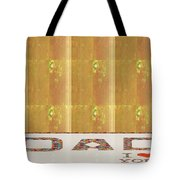 Gold Embossed Foil Art For Dad  Digital Graphic Signature   Art  Navinjoshi  Artist Created Images T Tote Bag