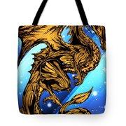 Gold Metal Dragon Tote Bag