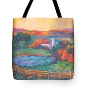 Golden Farm Scene Tote Bag