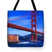 Golden Gate Bridge Panoramic View Tote Bag