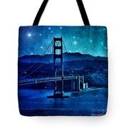 Golden Gate Bridge Night Tote Bag