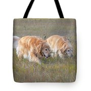 Golden Retriever Dogs On The Hunt Tote Bag