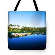 Golf Course At The Lakeside, Regatta Tote Bag