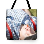 Golf Player Finding Inner Balance Tote Bag