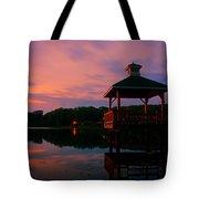 Gorton Pond Sunset Warwick Rhode Island Tote Bag