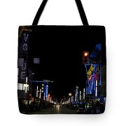 Granville Street At Night Vancouver Tote Bag
