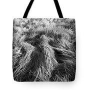 Grass In Black And White Tote Bag