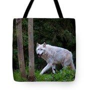 Gray Wolf White Morph Tote Bag