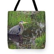 Great Blue Heron At Deboville Slough 2 Tote Bag