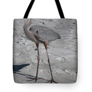 Great Blue Heron On The Beach Tote Bag