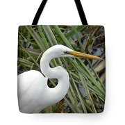 Great Egret Close Up Tote Bag