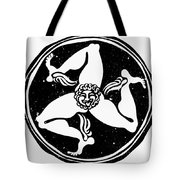Greece Triskelion Tote Bag