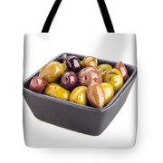 Green And Black Olives Tote Bag
