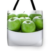 Green Granny Smith Apples Tote Bag