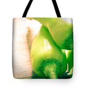 Green Jalapeno Peppers Tote Bag