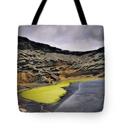 Green Lagoon On Lanzarote Tote Bag