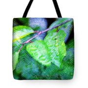 Green Leaf As A Painting Tote Bag