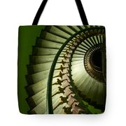 Green Spiral Staircase Tote Bag