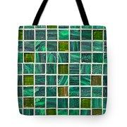 Green Tiles Tote Bag