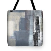 Blocked - Grey And Beige Abstract Art Painting Tote Bag