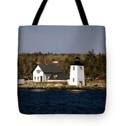 Grindel Point Lighthouse  Tote Bag by Skip Willits