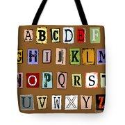 Grunge Alphabet Tote Bag