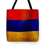 Grunge Armenia Flag  Tote Bag